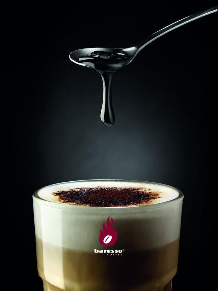 Caffè Latte Lakrizza with Lakrids by Johan Bülow syrup - get it at your nearest #Baresso coffeebar! Liquorice || licorice || coffee || kaffe