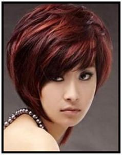 Dark Chocolate Cherry Hair Color | ... bob hairstyle in dark brown hair with golden copper brown highlights, love it!!