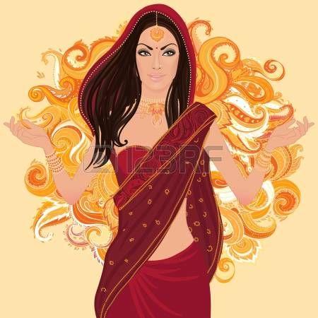 Mujer india hermosa vistiendo traje de novia en blanco photo