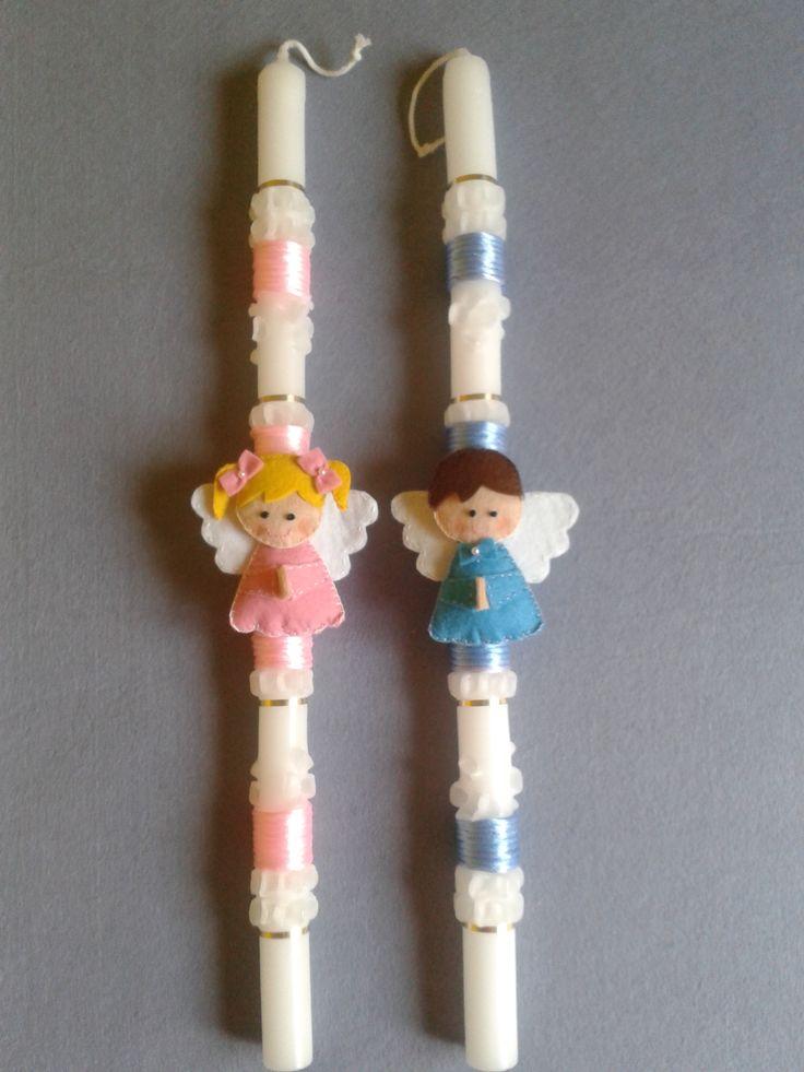 103 mejores im genes sobre velas decoradas en pinterest - Velas decoradas para bautizo ...
