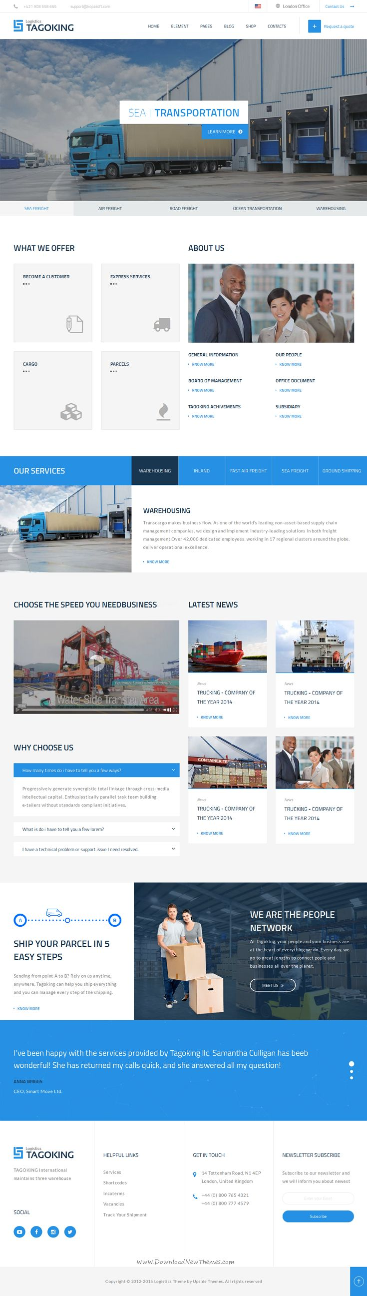 Tagoking is a professional #website #template perfect for Freight, #Logistics and Transportation.