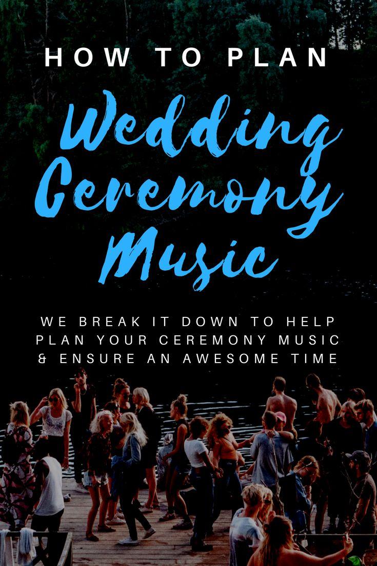 how to plan wedding ceremony music