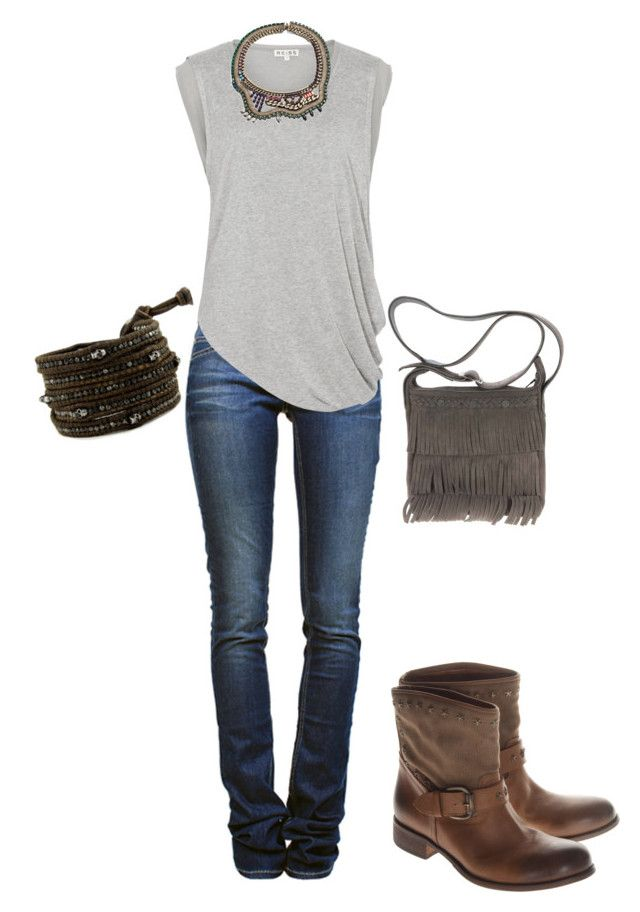 """""""Untitled #32"""" by caid805 ❤ liked on Polyvore featuring Étoile Isabel Marant, Reiss, DANNIJO, Chan Luu and Minnetonka"""