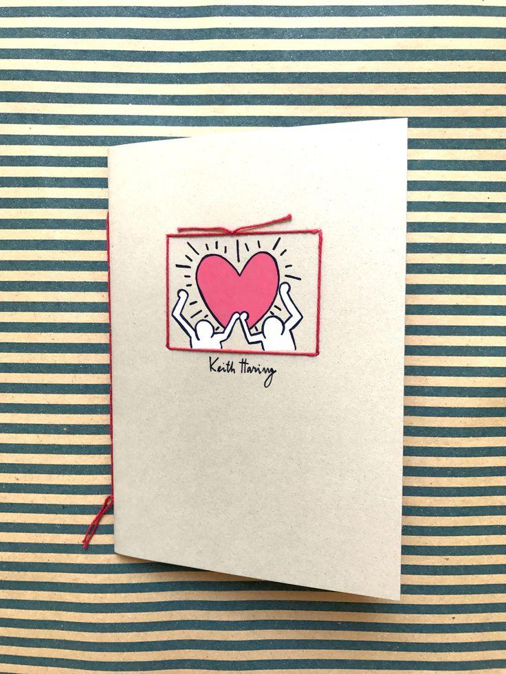 quaderno illustrato e rilegato a mano *keith_haring* : Quadernetti, agende di petilab