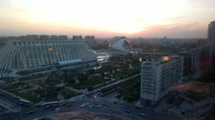 La Ciudad de las Artes y las Ciencias desde Vertical-Valencia
