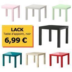 Tutoriel pour transformer un table basse IKEA LACK en pouf Plus