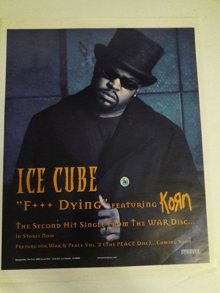 Ice Cube Music Ad Korn Hit Single War Disc Full Page Color