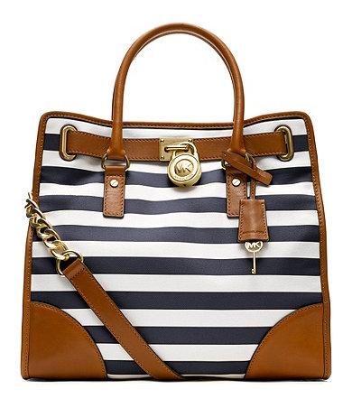 MICHAEL Michael Kors Handbag, Hamilton Large Stripe North South Tote -  Handbags \u0026 Accessories - Macy\u0027s This is so similar to the purse that I was  just ...
