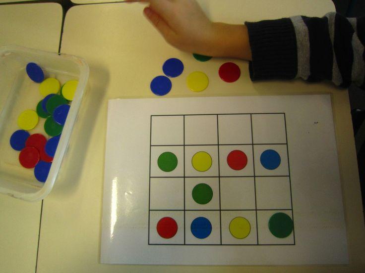 classe 9  sodocolor= sudoku des couleurs, facile à réaliser