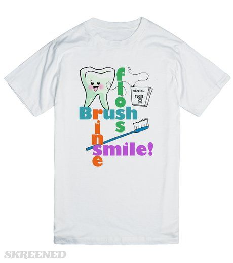 Dentist Dental Hygienist | Funny t-shirts, apparel and tote bags for dentistry professionals! Custom graphics, especially for orthodontists, endodontists, pedodontists, periodontists, prosthodontists, oral maxillofacial surgeons, as well as general family dentists, dental hygienists, Registered dental hygienists - RDH, assistants and dentistry students. Great tee shirts for the dental office, or for any time you want to promote great oral hygiene! #Skreened