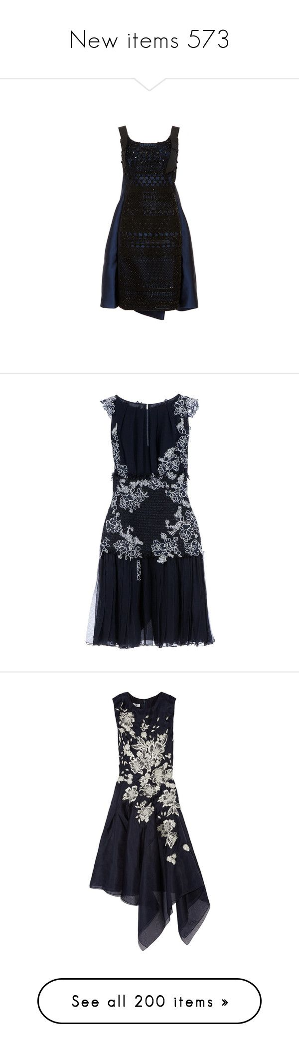 """""""New items 573"""" by cavallaro ❤ liked on Polyvore featuring dresses, scoop neckline dress, no sleeve dress, oscar de la renta dresses, ruched sleeveless dress, scoop-neck dresses, oscar de la renta, blue, blue dress and embroidery dresses"""