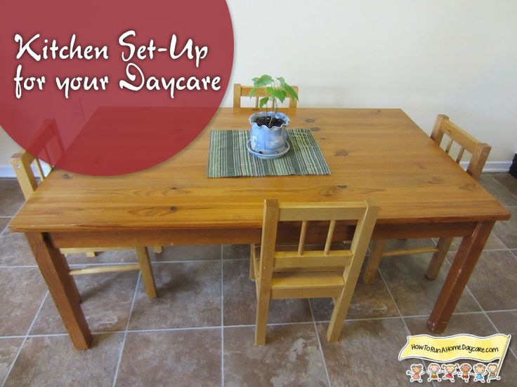 Setting up your kitchen for your home daycare tables - Kitchen set up ideas ...