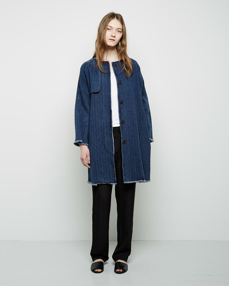 Isabel Marant Étoile / Fany Chevron Denim Coat #ps14 #ss14