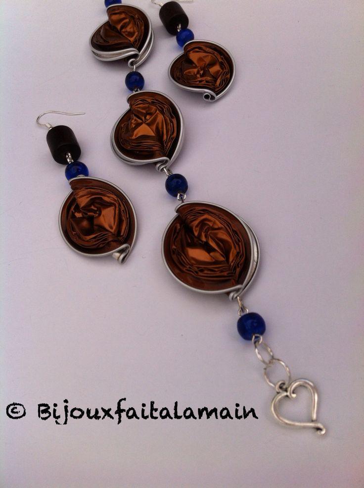 Bracelet et boucles d'oreilles en Capsules Nespresso