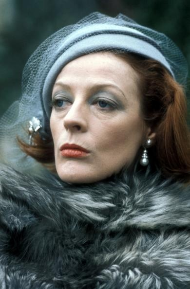 Maggie Smith. Wow!!!! (But I think I like her face now.....more interesting!)