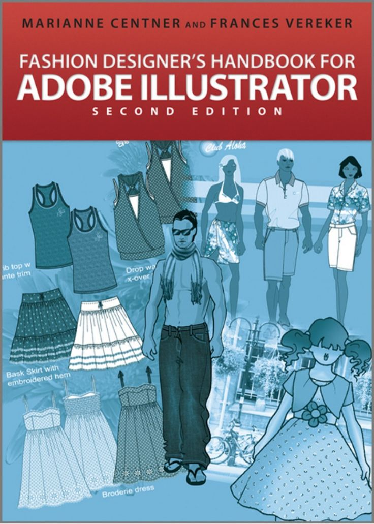 Fashion design book for learning how to use adobe illustrator