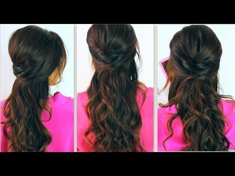 ★Everyday, Poofy / Retro, Crisscross Under, Half-up, Half-down #Hairstyles hair tutorial for medium or long hair