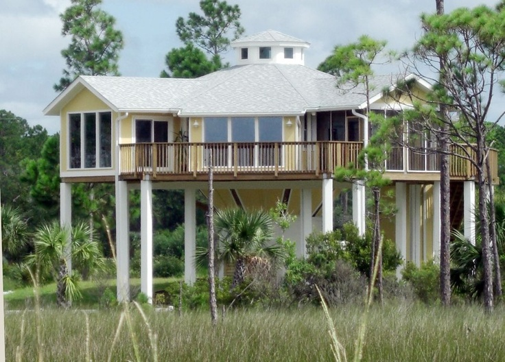 Elevated florida beach house plans for Old florida house plans