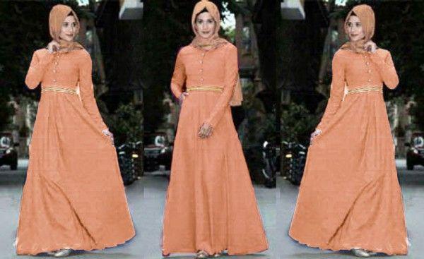 Baju dress muslim terbaru maxi rosa Kl03 salem
