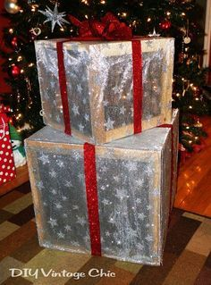 49 Best Christmas Lighted Boxes Images On Pinterest Outdoor  - Lighted Christmas Boxes
