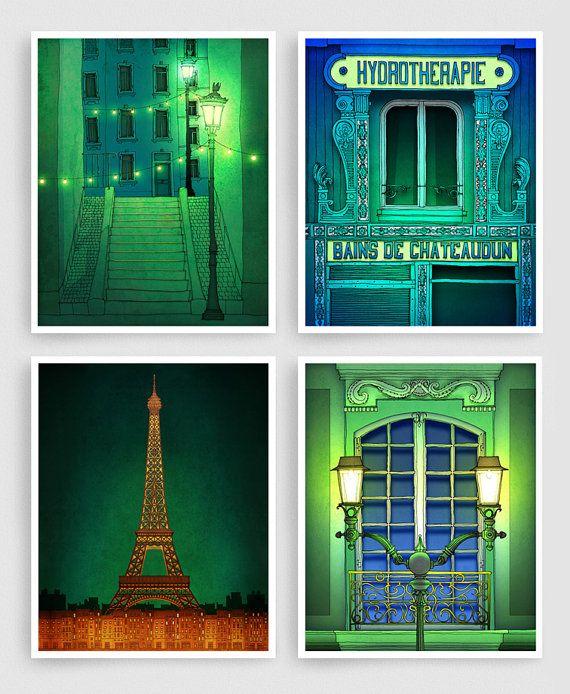 Die Wächter der Nacht Abbildung Paris Montmartre Kunst von tubidu