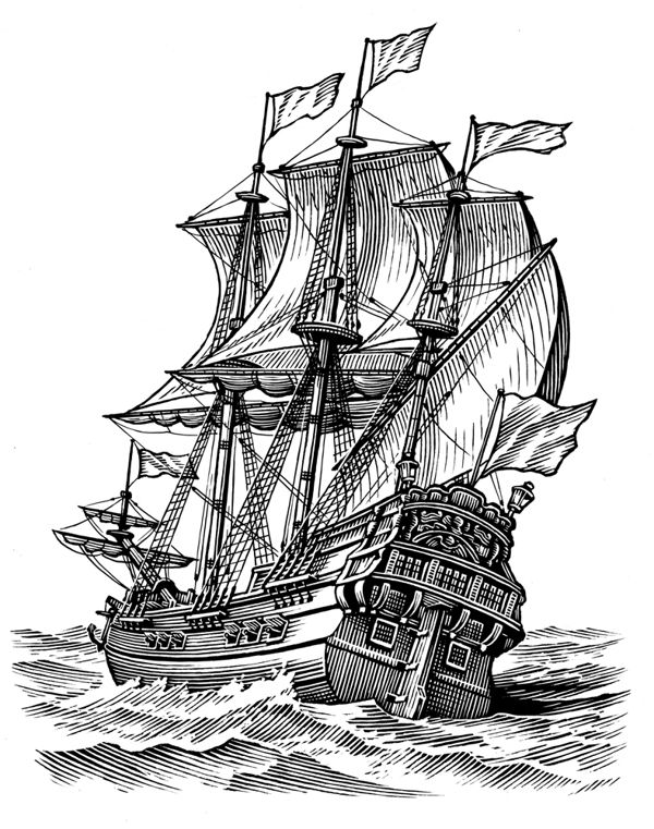Line Drawing Ship : Best ideas about ship drawing on pinterest
