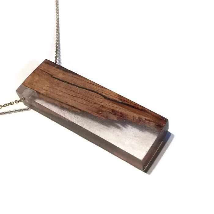 Handmade Wood and Resin Pendant Necklace - | Tasmanian Oak | Clear | by BricoleurDesign on Etsy https://www.etsy.com/au/listing/566166325/handmade-wood-and-resin-pendant-necklace