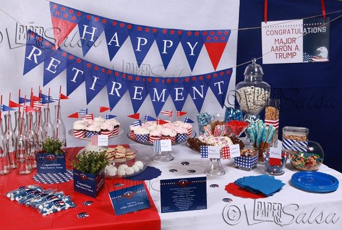 Patriotic or Military Retirement Party Theme