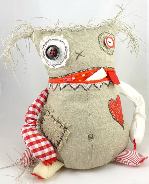 Wish and Worry Monster Doll. Stuffed Monster Toy. by MiaPuPe, $49.00
