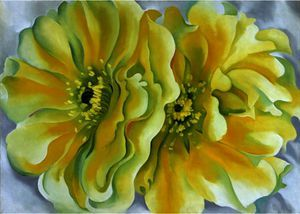 Yellow cactus - (Georgia O'keeffe)
