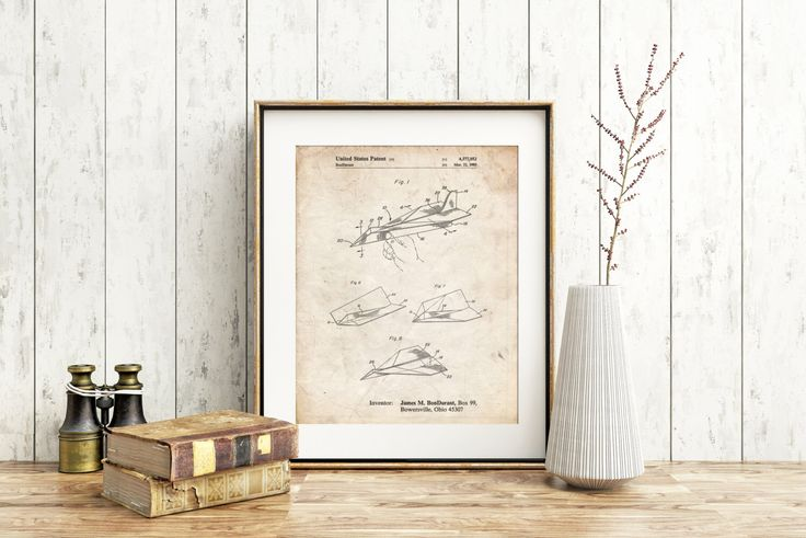 Paper Airplane Patent Poster, Aerospace Engineer, Aviation Decor, Kids Room Art, Game Room Decor, Boys Room Wall Decor, PP0983 by PatentPrints on Etsy https://www.etsy.com/listing/226801729/paper-airplane-patent-poster-aerospace