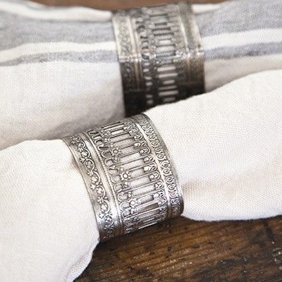 Pom Pom at Home Victorian Napkin Ring Set of 4