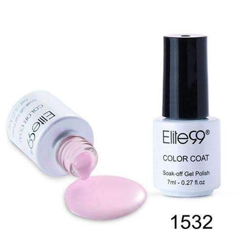 Elite99 7Ml Pink Color Series Gel Varnish Gel Nail Polish Soak Off Nail Gel Polish Long Lasting Nail Gel Lacquer Gorgeous Color