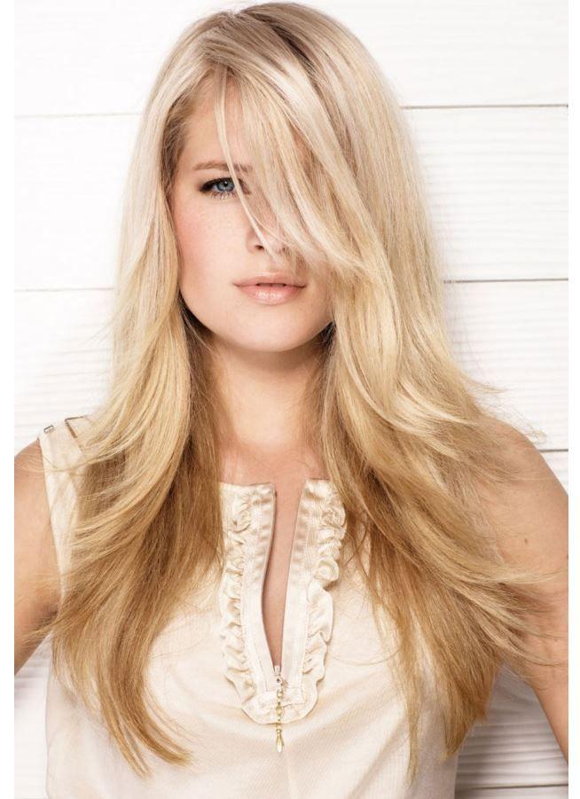 Trend uzun Katlı Saç Kesimleri