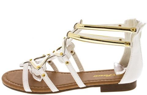 KESHA58 WHITE FASHION WOMEN'S SANDALS ONLY $10.88. All women's shoes, heels, wedges, sandals, and flats are $10.88 a pair.