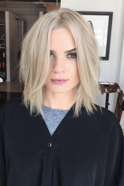 L.A.'s Top 5 Spring Hair Trends To Copy Now #refinery29  http://www.refinery29.com/la-hair-stylist-spring-trends-2016#slide-8  The Choppy BobStylist: Colleen DuffySalon: Sally HershbergerWhat To Ask For: A slight A-line with light layering and texturized endsChoppy need not mean shaggy, ...