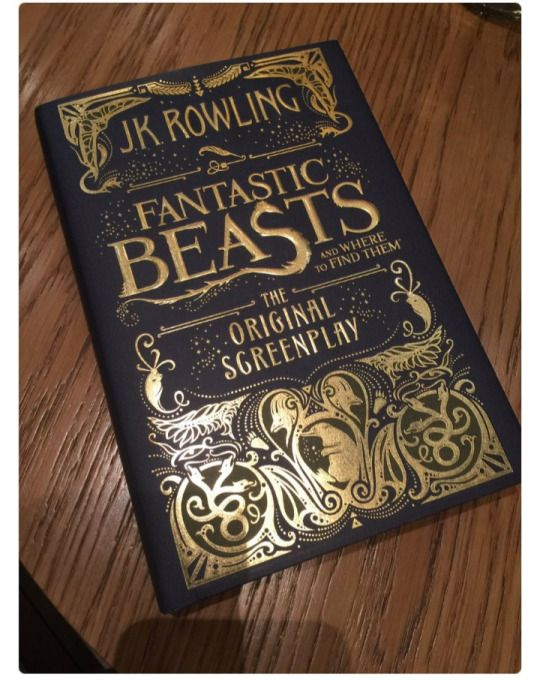 This book cover is beautiful omg! Fantastic Beasts Movie Screenplay is Being Published J.K. Rowling confirms that her script for the Fantastic Beasts and Where to Find Them movie is being published in book form.