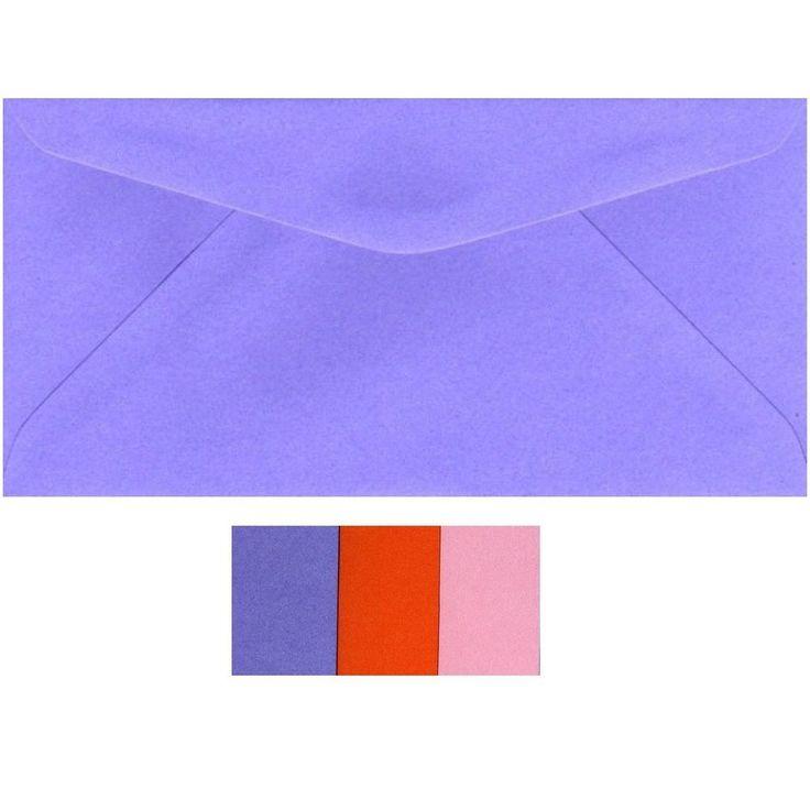 NEW DL Envelopes BULK 500 Coloured Variations  Banker 220mm x 110mm  8.5 x4.2