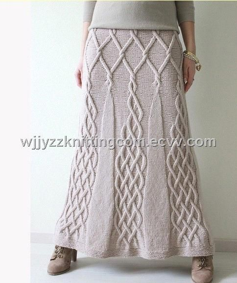 Fashion for Ladies Wonmen Wool Jacuqrad Knitted Skirt Dress6
