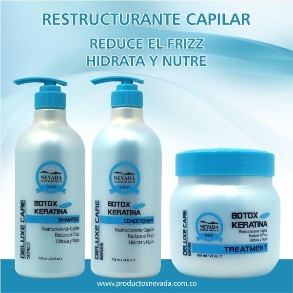 Formula Elaborada para rellenar la hebra capilar, ayudando a controlar el frizz del cabello , a la vez que lo hidrata y nutre, devolviendo el cabello a su estado natural dejándolo sano y brillante.