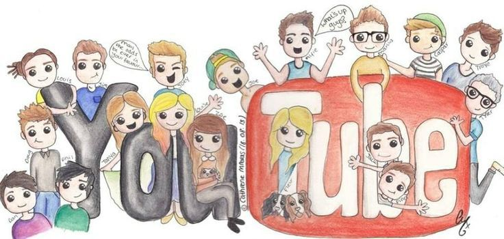 Great drawing of some YouTubers