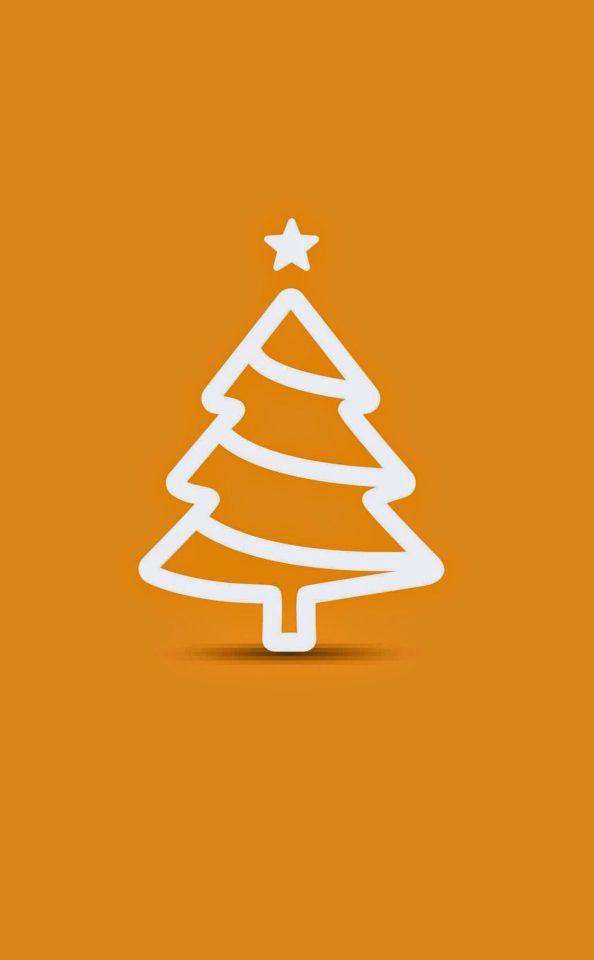Minimal Flat Christmas Tree Illustration Orange IPhone 6 Plus HD Wallpaper