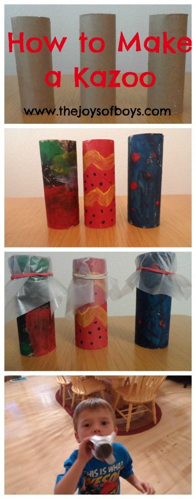How to make an easy kazoo.  Fun and easy craft for kids.  www.thejoysofboys.com