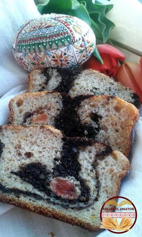 Cozonac de Paște fără gluten, cu făină de orez / Gluten free Easter sweet bread, with rice flour