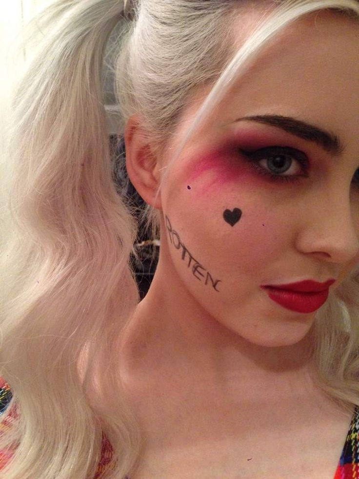 Harley Quinn Suicide Squad makeup test 3 | Cosplay Amino