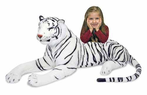 Absolutely Prehistoric| Wildlife | Wildlife Gifts: Melissa and Doug White Tiger Giant Stuffed Animal  $79.99