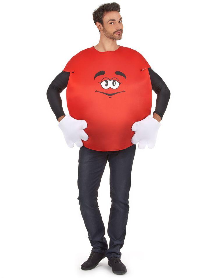 Costume Caramella rossa per adulto: Questo costume da caramella di colore rosso e' per adulto.Esso e' composto da una maglietta e un paio di guanti.La maglietta e' di forma rotonda, senza maniche e si chiude grazie...