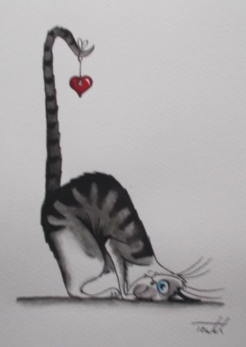Aquarelle-034-Le-chat-coeur-034