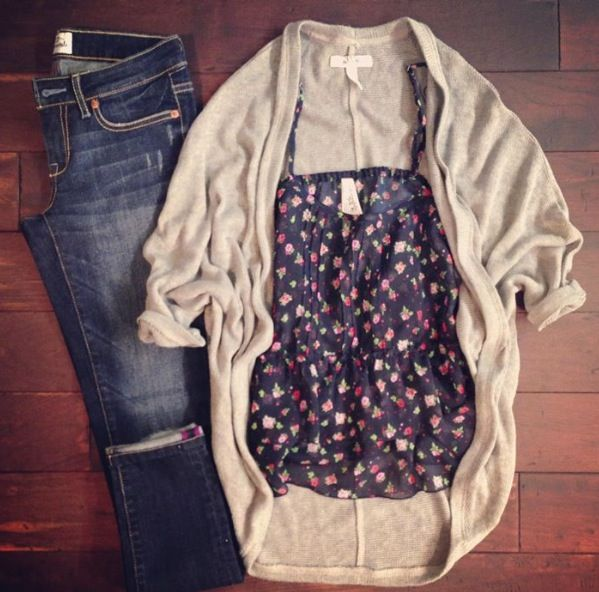 Early fall selections - Pair this outfit with ankle booties and you'll be stepping stylishly, guaranteed!