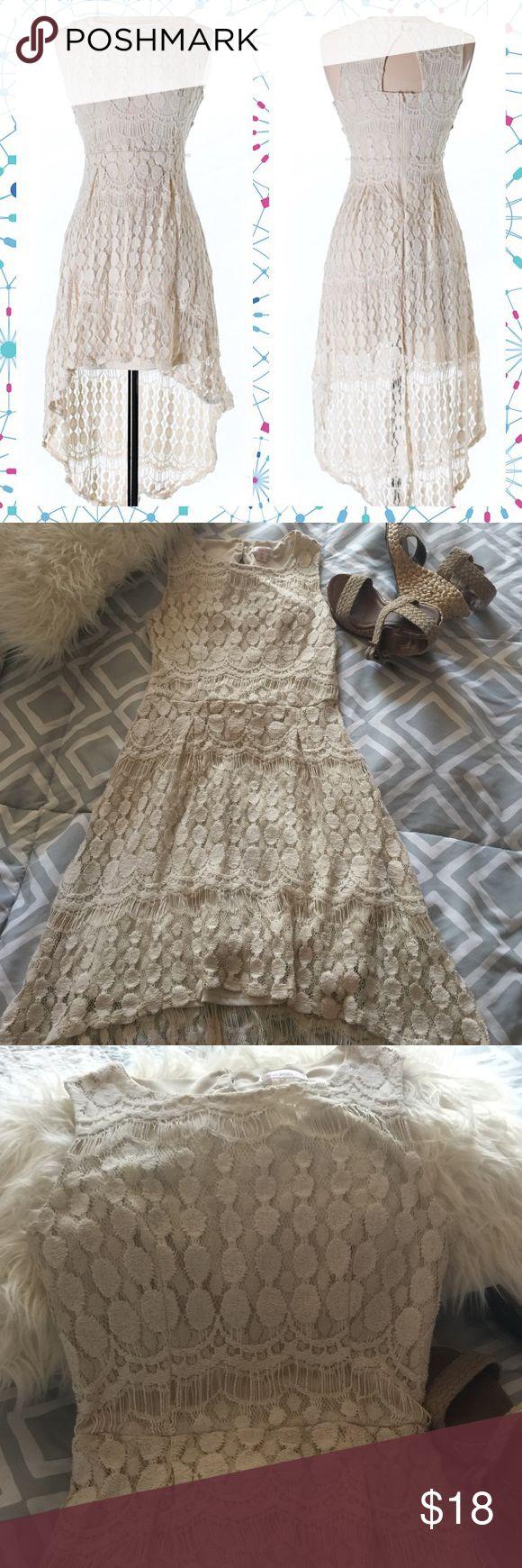 BEIGE LACE DRESS Beautiful beige lace dress size S. worn once Dresses